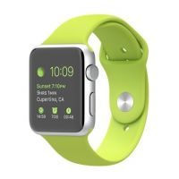Apple Watch Sport 42mm Silver Aluminum Case with Green Sport Band (MJ3P2)
